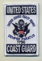 US Coast Guard patch 2x3 with heat seal